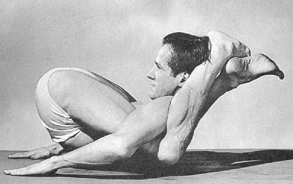 Legs over shoulders